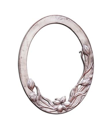 cartouche: Oval frame flower pattern  Stock Photo