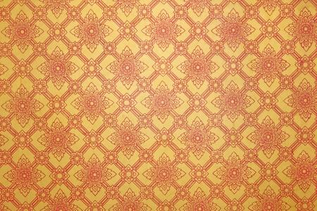 window Lai Thai pattern  photo