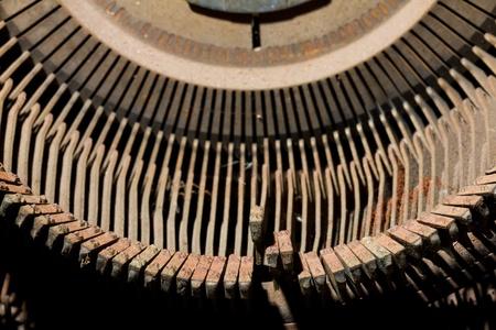 old typewriter: Old rusty typewriter type bars  Stock Photo