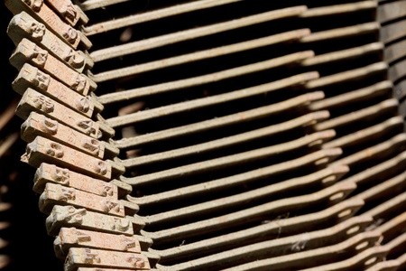 Old rusty typewriter type bars Stock Photo - 10349371