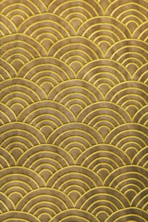 bright decoration color: wave pattern on silk