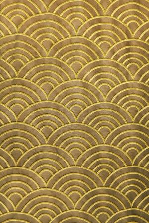 of siam: wave pattern on silk