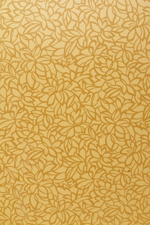 buddhist temple: Gold leaf pattern background  Stock Photo