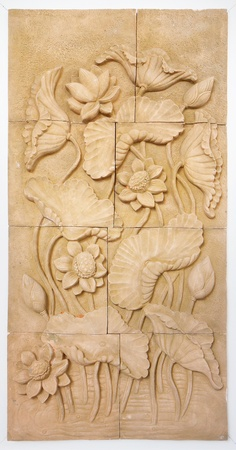 stone carving: Lotus Flower- Stone carving