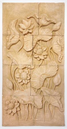 stone buddha: Lotus Flower- Stone carving