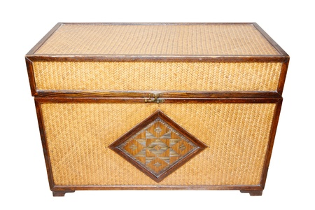 Old Wooden webbed chest photo