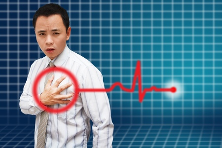 Heart Attack Asia Business man  photo