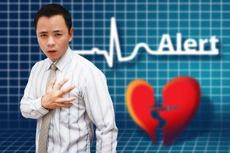 tightness: Heart Attack Asia Business man