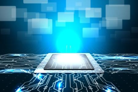 microprocesadores: Nano CPU formaci�n en inform�tica Foto de archivo