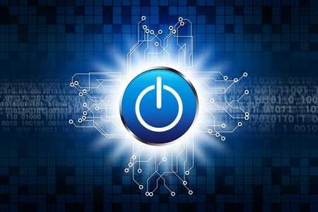 Power button on digital background Stock Photo - 11801368