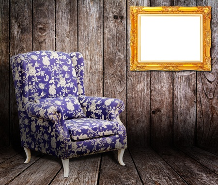 Sofa and picture frame in the Wooden room Stock Photo - 12425305