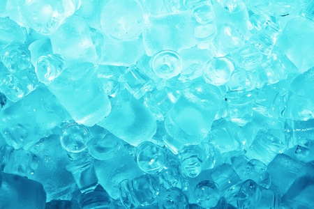 Real cool ice cube frozen background  photo