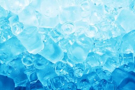Real de fondo del cubo de hielo fresco congelado Foto de archivo