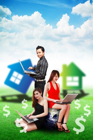 Business team selling the house Stock Photo - 13647163