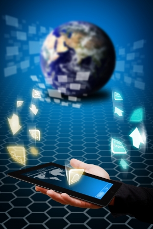 Data transfer from tablet computer to the App world photo