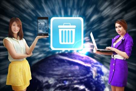 shoppping: Bin icon from app world