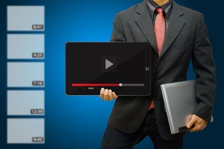 vdo: Business man and Download VDO