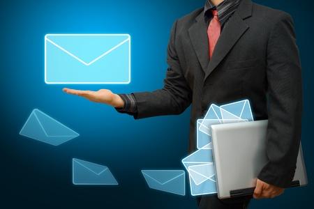 got: Business man got E mail