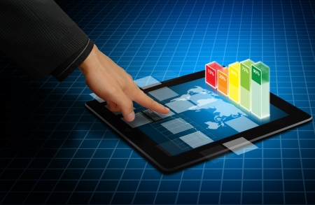 Digital touch pad and graph report