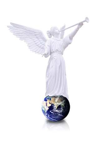 Angel on the world photo