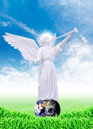 Angel on the world photo