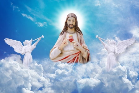 sacred heart: Jesus Christ on heaven
