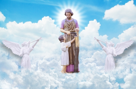 Joseph and Jesus on heaven  photo