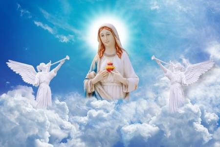 mary and jesus: Mary on heaven