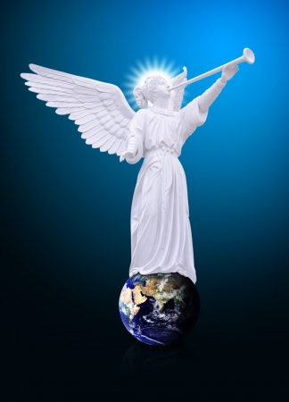 Angel on the world Imagens