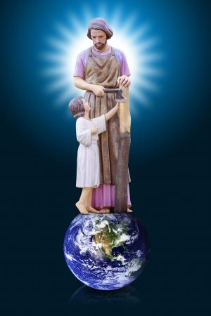 saint joseph: Joseph and Jesus