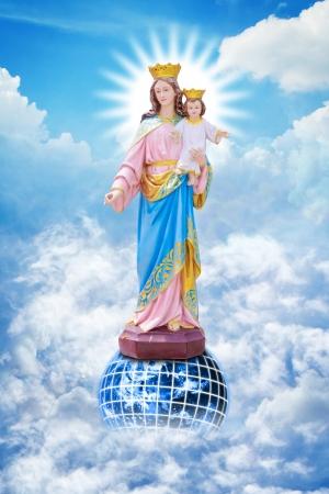 vierge marie: Jésus et Marie Banque d'images