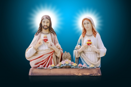 Jesus and Mary photo