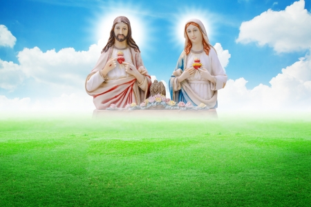 Jesus and Mary photo