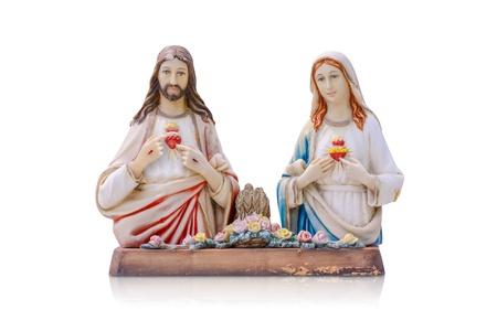 virgen maria: Jes�s y Mar�a