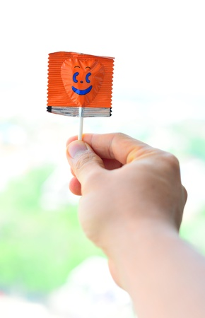 Smile lollipop in pack Stock Photo - 14396307