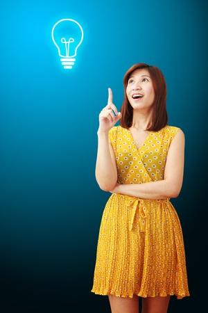 got: Business woman got idea  Stock Photo