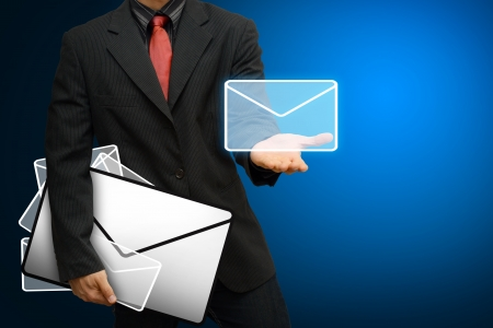 Business man Got E mail  Stock Photo - 14760499