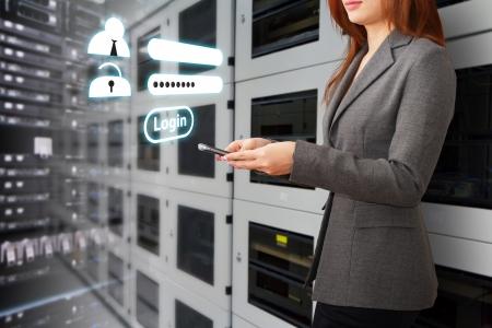 Fen�tre Connexion programmeur et activ� Banque d'images