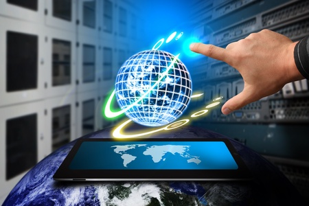 world security: Smart hand and global system in Data center room