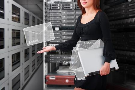 post office: Programmer got E-mail Stock Photo