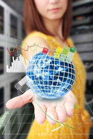 usługodawcy: Raport wykres na świecie