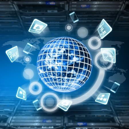 Digitale Welt Konzept im Rechenzentrum Raum Standard-Bild - 15655788
