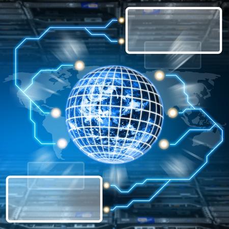e systems: Digital world concept in data center room