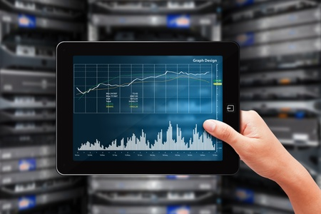 Graph monitor in data center room