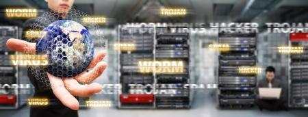 Dijital dünya veri merkezi salonunda korundu
