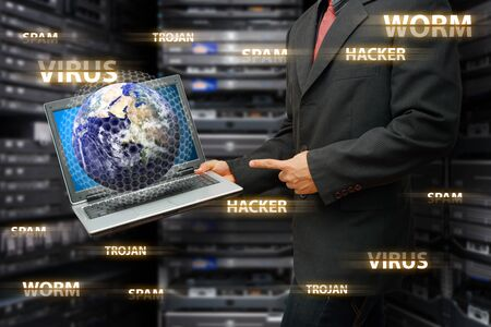 Digital world was protected from virus and hacker Stock Photo - 15655813