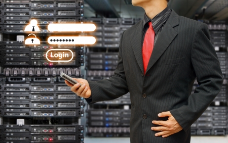web security: Programmer in data center room