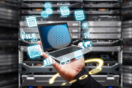 Digital file control in data center room