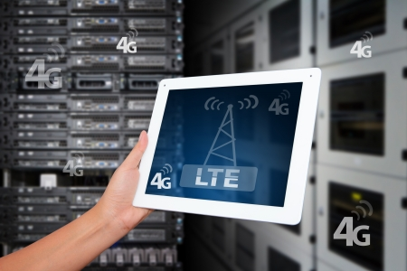 4G LTE wireless GPRS on digital tablet
