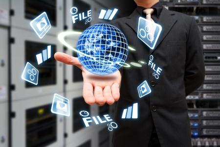 internet terminals: Programmer in data center room
